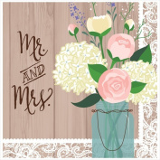 Creative Converting 668706 Rustic Wedding - Lunch Napkins Mr. and Mrs. - Case of 192