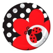 Creative Converting 415019 Ladybug Fancy - 18cm . Lunch Plates - Case of 96