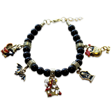 Whimsical Gifts 1300G-BR Halloween Charm Bracelet In Gold
