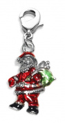 Whimsical Gifts 869S Santa Claus Charm Dangle in Silver