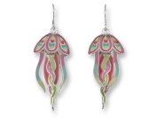 Zarah 32-08-Z1 Jellyfish Dangle Ultrafine Silver Plate Earrings