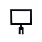 VIP Crowd Control 1707 28cm x 20cm . Sign Mount with Landscape Sign Frame - Black Finish