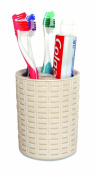 Toothbrush and Toothpaste Holder (Beige)