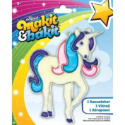 Makit & Bakit Suncatcher Kit-Glitter Unicorn