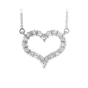 Luis Creations PRL1290-050 14K Gold Heart Pendant With 0.50 Ct. Of Diamonds