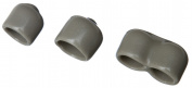 Organised Living - Schulte 7913-6600-45 Assorted Nickel End Caps Pack Of 12