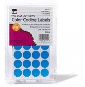 Charles Leonard CHL45115 Colour Coding Labels Blue