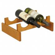 Wooden Mallet WR31MO 3 Bottle Dakota Wine Rack