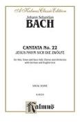 Alfred 00-K06533 Bach Cantata No. 22 V Book