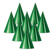 Beistle 66002-G Foil Cone Hat Green - Pack Of 48