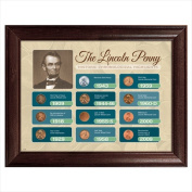 American Coin Treasures 12438 The Lincoln Penny Historical Chronological Highlights - Framed