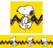 Eureka EU-845253 Peanuts Yellow With Snoopy Deco Trim