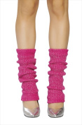 Roma Costume 14-LW102-HP-Slvr-O-S Sparkle Leg Warmer One Size - Hot Pink & Silver