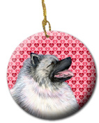 Carolines Treasures SS4488CO1 7.1cm x 7.1cm . Keeshond Ceramic Ornament