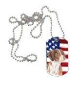 Carolines Treasures SC9112DT USA American Flag with Brittany Dog Tag