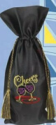 Joann Marie Designs IBTEMB2 Embroidered Wine Bag - Cheers Pack of 12