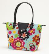 Joann Marrie Designs NF1FP Small Fold-Up Bag - Flower Power Pack of 2