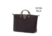 Joann Marrie Designs NF2BL Short Handle Fold-Up Bag - Black Pack of 2