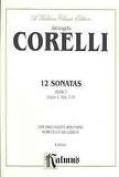Alfred 00-K09240 CORELLI 12 SONATAS OP 1-7-9 2VLN