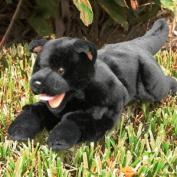 Sunny Toys NP8046T 46cm . Dog - Black Puppy Lying Animal Puppet