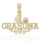 Gold #1 Grandma Charm, 10k Solid Gold