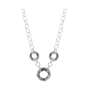 Sterling Silver Faceted Vitrail Silver Colour. Elements Necklace