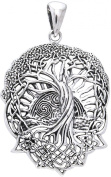 CGC Sterling Silver Celtic Tree of Life Pendant on 46cm Box Chain Necklace