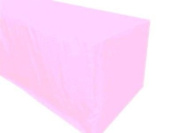 1.2m Fitted Polyester Tablecloth Wedding Banquet Event Table Cover Light Pink