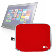 DURAGADGET Red Ultra Protection Water-Resistant Laptop Carry Case for Lenovo Yoga 2 11