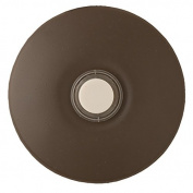 Nicor Lighting ECSBARCHBZ Wired Lighted Stucco Push Button Prime Chime Door Bell Kit - Architectural Bronze