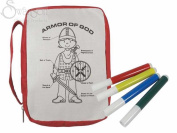 Swanson Christian Supply 13117X Bible Cover - Armour Of God With Markers - Small - Red