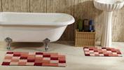 Better Trends 2PC2440BU Tiles Bathrug Burgundy - 60cm x 100cm . 2 Pieces
