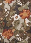 Jaipur Rugs RUG116186 Hand-Tufted Floral Pattern Wool/ Art Silk Brown/Orange Area Rug