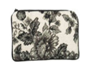 123 Creations C535CC-11cm x 18cm . A-Toile-Black Needlepoint Cosmetic Case