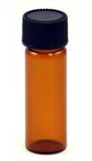 AzureGreen L1DRA 1 Dram Bottles Amber Round