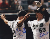 John Baker And Cody Ross Autographed Florida Marlins 8X10 Photo