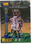 Autograph Warehouse 31809 Sharone Wright Autographed Basketball Card Clemson University 1994 Signature Rookies