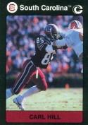 Autograph Warehouse 96927 Carl Hill Football Card South Carolina 1991 Collegiate Collection No. 107