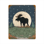 Past Time Signs LANE012 Moose Moon Home and Garden Vintage Metal Sign