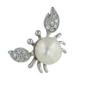 Vera & Co. Inc. 6S-4233FPCL Sterling Silver Pendant Crab Fresh Water Pearl
