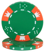 Brybelly Holdings CPCD-GREEN-25 Roll of 25 - Crown & Dice 3 Tone 14 gramme - Green