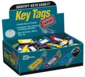 Lucky Line U008565 Lucky Line Colour Key Tag With Ring Display