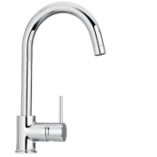 Jewel Faucet 25572 Single Hole Kitchen Faucet in Chrome - 20 L x 10 W x 4 D in.