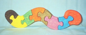THE PUZZLE-MAN TOYS W-1169 Wooden Educational Jig Saw Puzzle - Worm