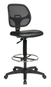 Avenue 6 Office Star DC2990V Deluxe Mesh Back Drafting Chair with 50cm . Diameter Foot ring