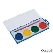 Giant Four Colour Watercolour Kits with Brushes - 12 Kits