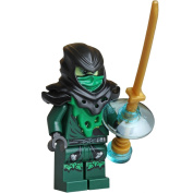 block Ninjago Minifigure - Lloyd Ghost Evil Possessed with Gold Weapon