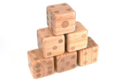 Giant Wood Yard Dice with Carry Bag by Trademark Innovations