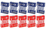 Aviator Standard Playing Cards - 5 Red Decks and 5 Blue Decks