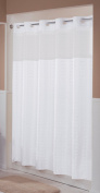 Hookless RBH43MY042 Litchfield Shower Curtain, Bright White